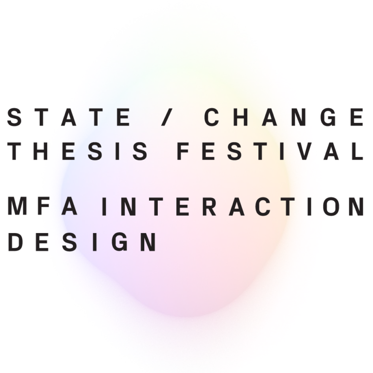 sva interaction design thesis As a field, interaction design is moving so quickly that by the time you  really, a  lot of the thesis process at sva is about the journey you go.