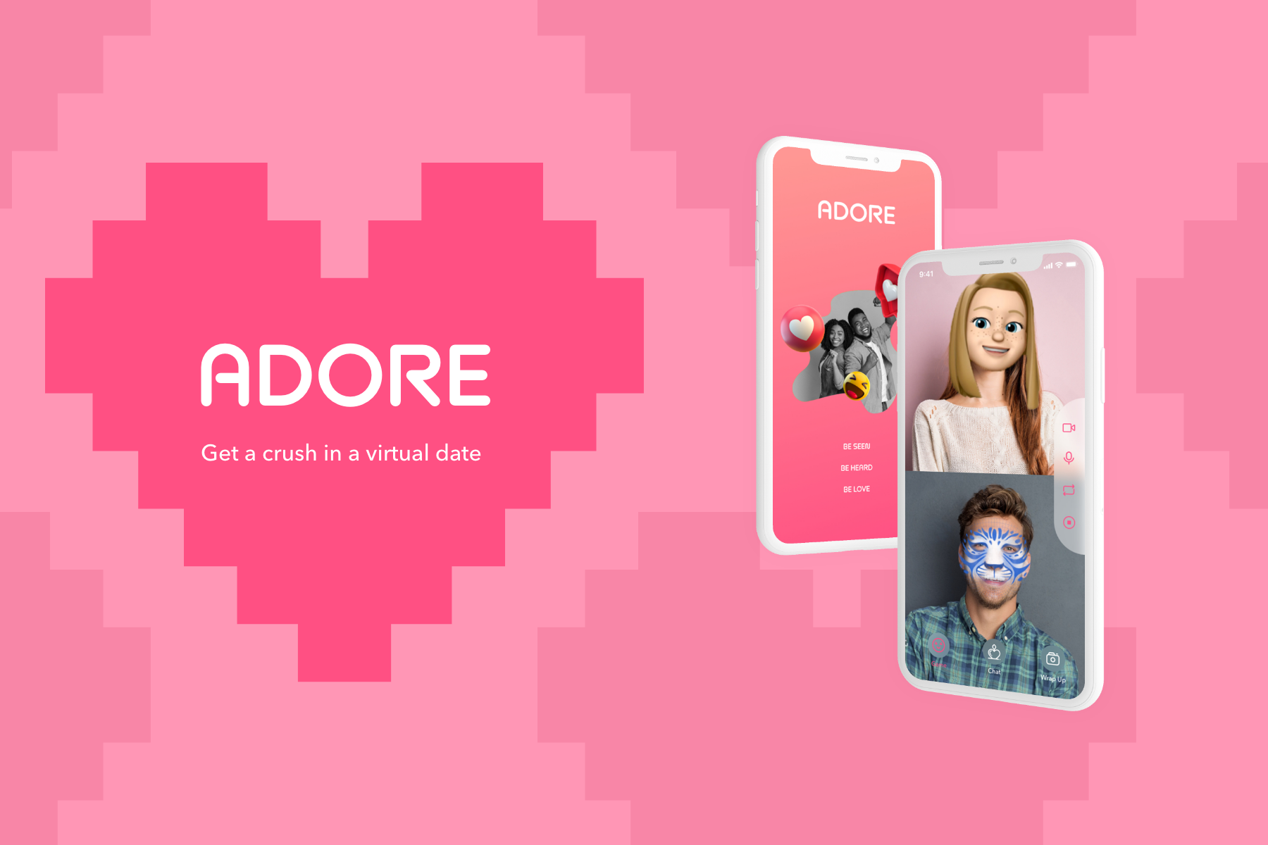 Adore Adore is a video platform that facilitates virtual dates to create crush moments.