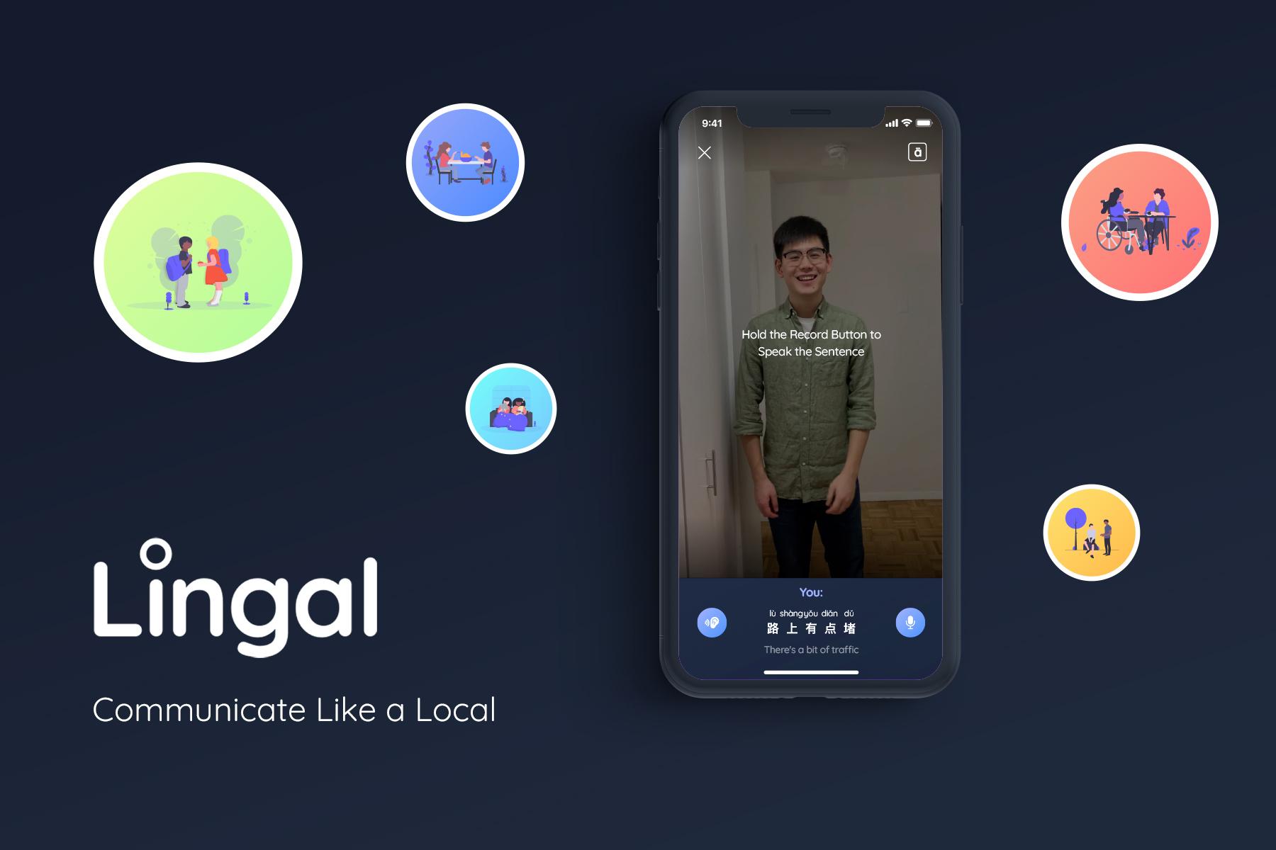 Lingal A Mandarin language learning platform that teaches pronunciation and conversation visually.