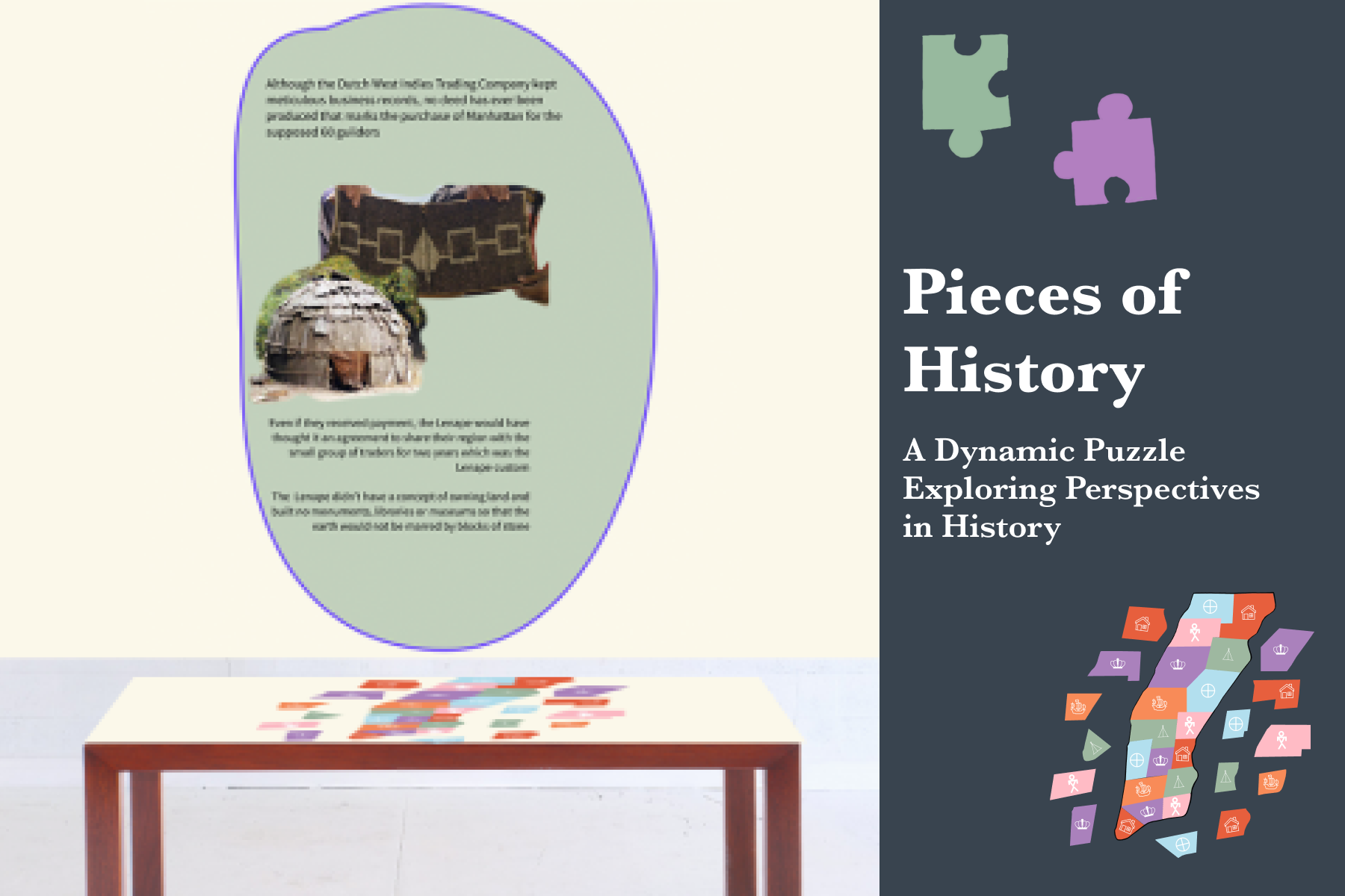 Pieces of History A dynamic puzzle exploring perspectives in history.