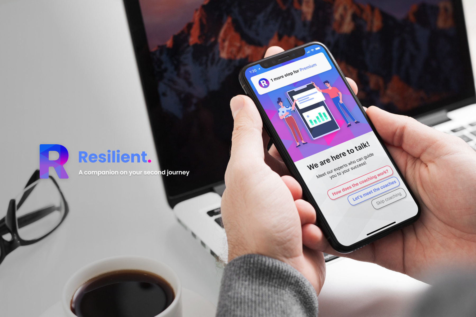 Resilient. A platform that helps older populations move into new post-retirement paths.