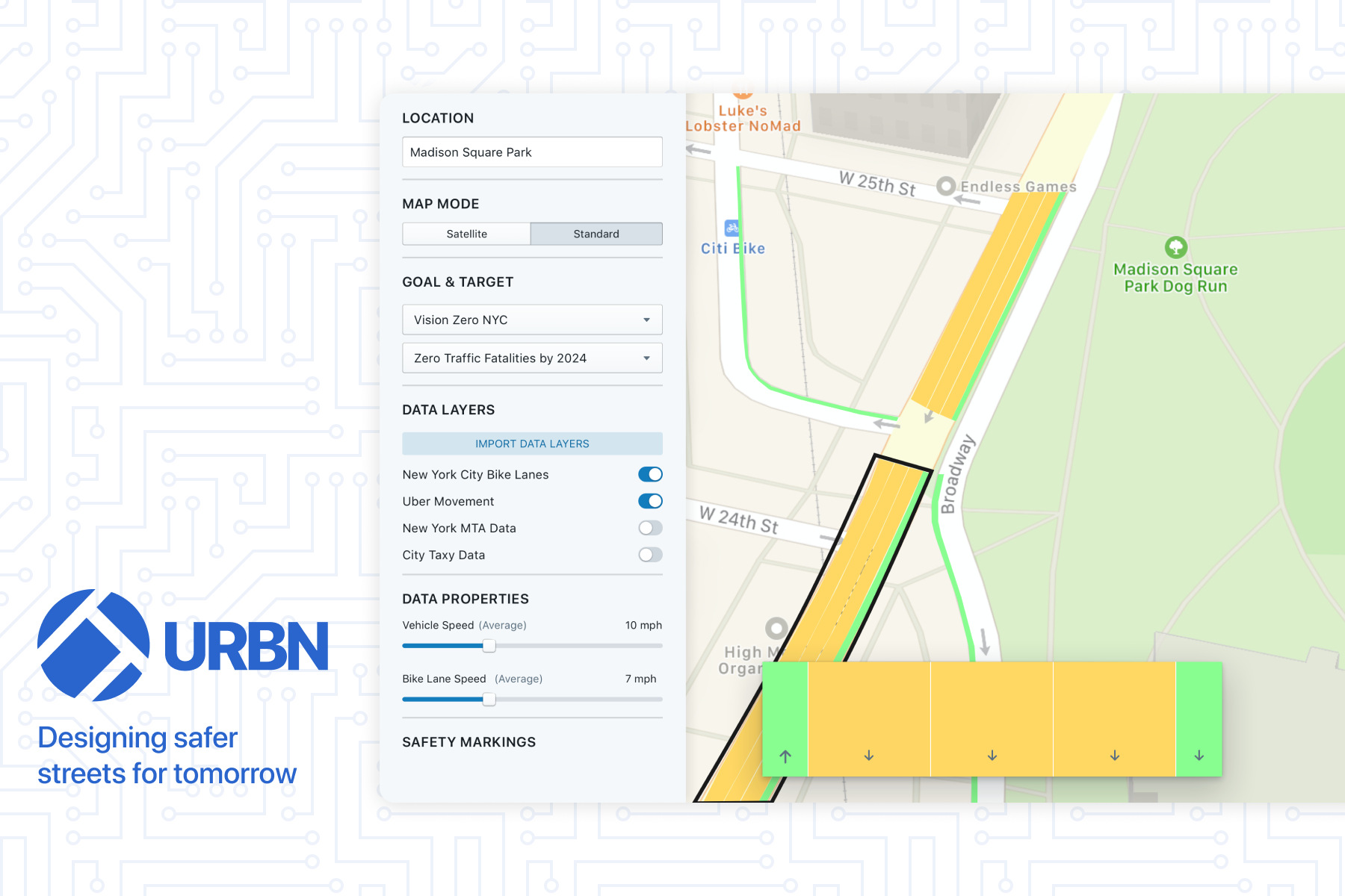 URBN An urban design tool powering the development of safer streets.