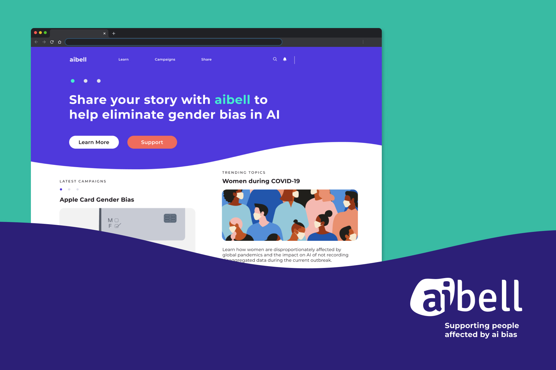 aibell A support platform for people affected by AI bias.